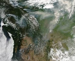 Wild Fires In Oregon State by Nasa Visible Earth A Rash Of Fire In Canada And The Pacific Northwest