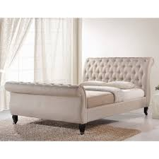 amazon com baxton studio marietta tufted upholstered sleigh