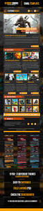 Responsive Email Template Psd by Extreme Gaming Psd Email Template By Odin Design Graphicriver