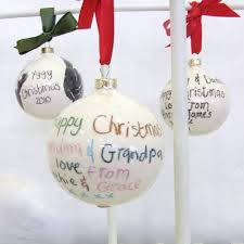 personalised ceramic bauble by the handmade mug company