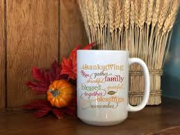 thanksgiving coffee mug fall coffee mug mug 15 oz mugs