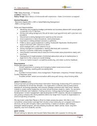 resume sle for management trainee position salary territory manager job descriptionmplate jdmplates resume summary