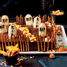 Halloween Cake Supplies Deserted Graveyard Cake Recipe Myrecipes