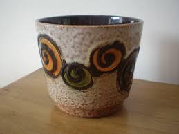 vintage scheurich west german pottery fat lava planter 806 12 mid