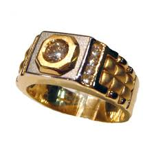 mens rings uk rolex design 14ct two colour gold mens ring r1082