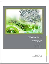 sample investment proposal microsoft word templates