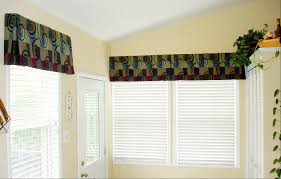 home accessories awesome pattern cornice valance with blinds for