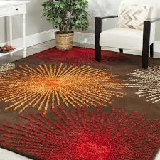 Orange And Brown Area Rugs Burnt Orange Area Rugs Rugs Inspiration