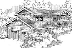 House Plans For Sloping Lots Shingle Style House Plans Garage W Recreation Room 20 115