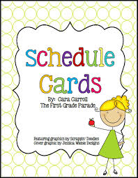 free behavior management resources schedule cards visual