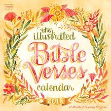 the illustrated bible verses wall calendar 2018 workman publishing