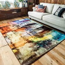tapis de chambre enfant kingart abstraite moderne bref canapé tapis chambre enfant épais