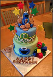 cookie monster theme 1st birthday cake by k noelle cakes cakes