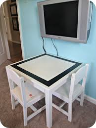 table makeover how to refinish a kid u0027s table simply swider