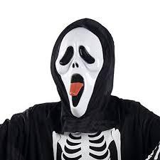 Scream Halloween Costumes Sticking Tongue Ghost Mask Head Cover Scream Practical Joke