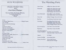 church wedding programs sle wedding programs reference decoration diy wedding 53394
