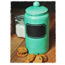 canisters for flour and sugar vintage turquoise chalkboard label