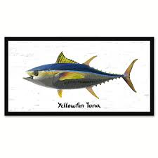 Fish Home Decor Yellowfin Tuna Fish Home Decor Wall Art Nautical Beach Fisherman