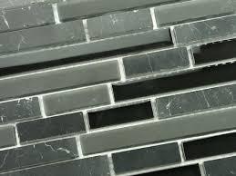 polished negro maquirina stone mosaic black glass tile kitchen