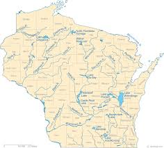 Wisconsin rivers images Map of wisconsin lakes streams and rivers gif