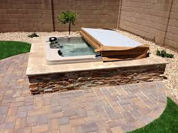 Backyard Landscaping Ideas Pictures Best 25 Hot Tubs Landscaping Ideas On Pinterest Hot Tubs