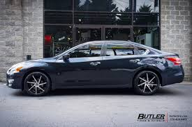 nissan altima custom rims nissan altima with 18in lexani css7 wheels exclusively from butler