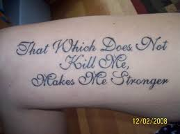 tattoos quotes about strength