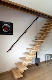 stairs that lift up on a pulley system the counter weights used