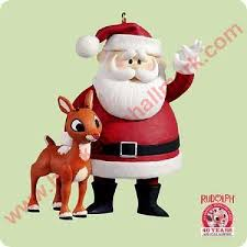 2004 rudolph and santa hallmark ornament