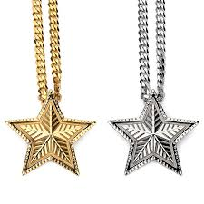 aliexpress buy nyuk mens 39 hip hop jewelry iced out nyuk new gold silver five pointed pendant necklace judaism