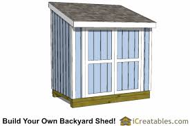How To Build A Lean To Shed Plans by 5x8 Lean To Shed Plans Icreatables Sheds