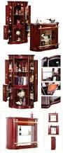 816 a wood cupboard design corner cabinet living room showcase