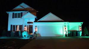 Green Flood Light Led Rgb Christmas Flood Lights Youtube
