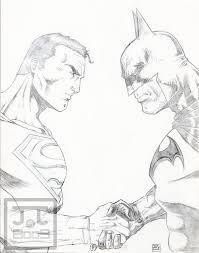 superman vs batman sketch2009 by barfast on deviantart
