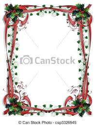background border christmas festive frame graphic green clipart