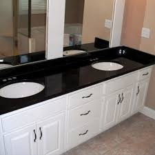 White Bathroom Vanity With Black Granite Top - kitchen luxurious bathroom with white vanity white cabinets white