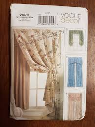 sewing pattern for window treatment dressings curtains and drapes
