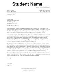 Sle Cover Letter For High School Student sle resume for high school senior pertamini co