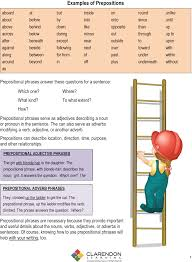 prepositional phrases lesson plan clarendon learning