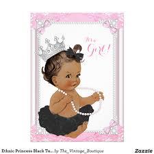 ethnic princess black tutu lace pearl baby shower 4 5x6 25 paper