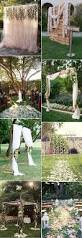 How To Decorate A Backyard Wedding Best 25 Outdoor Wedding Arches Ideas On Pinterest Wedding
