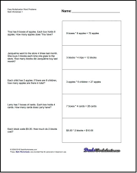 multiplication word problem worksheets 3rd grade division of