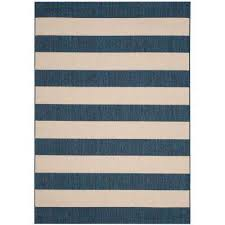 Navy And Beige Area Rugs Striped Outdoor Rugs Rugs The Home Depot