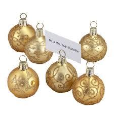 amazon com snow flurry flocked glass ornament place card holders
