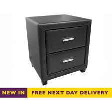 two drawer bedside table cheapest dorset black faux leather two drawer bedside cabinet