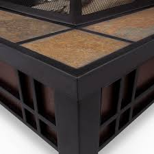 Fire Pit Insert Square by Real Flame Morrison 34 In Square Fire Pit With Free Cover Hayneedle