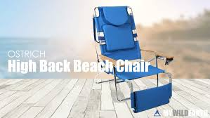 Reclining Folding Chair With Footrest High Back Beach Chair With Backpack Straps And Foot Rest