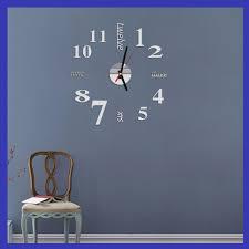silver fun life creative diy wall clock with decorative english