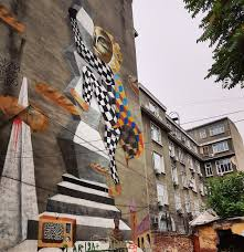 bucharest streets and architecture urban wall art inspired by a sculpture by the romanian sculptor brancusi bucharest romania