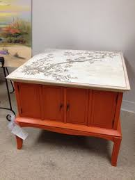 burnt orange coffee table currently for sale celia s decorative painting